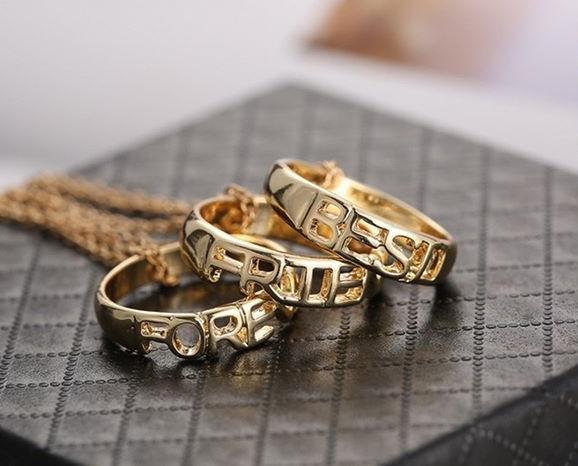 Best Friend Three Chain Necklace Set