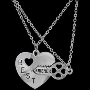 Best Friend Key Heart Necklace