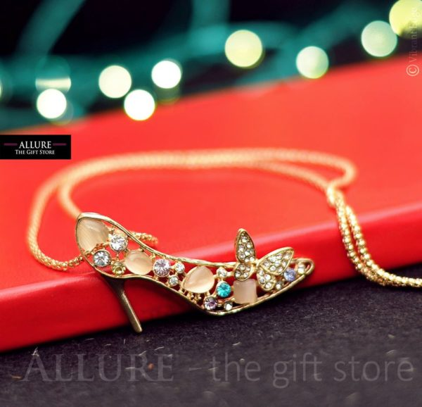 Shoe Necklace with Chain