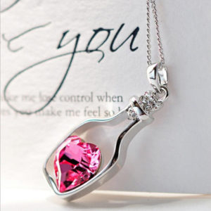 Bottle Heart Necklace