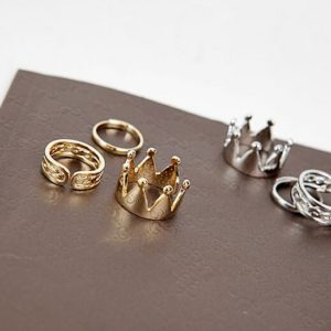 Crown Mid Fingers Ring