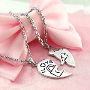 Love Key Heart Necklace