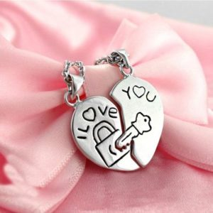 Love Key Heart Necklace
