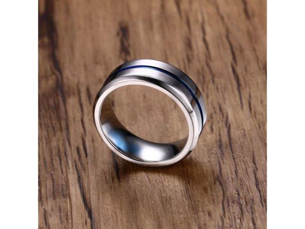 Titanium Circle Line Ring