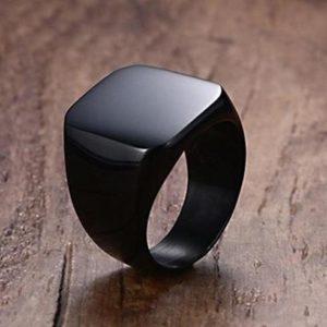 Titanium Square Ring