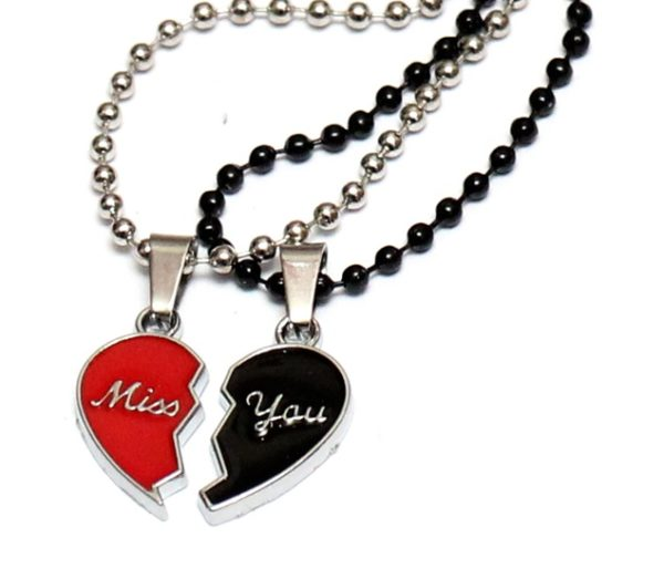 Miss you Heart Necklace
