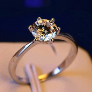 Solitaire Crystal Ring