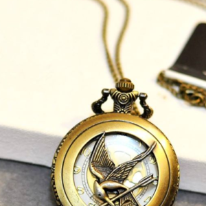Hunger Games Clock Necklace