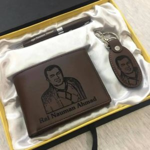 Customized Picture And Name Wallet Keychain Pen Giftpack