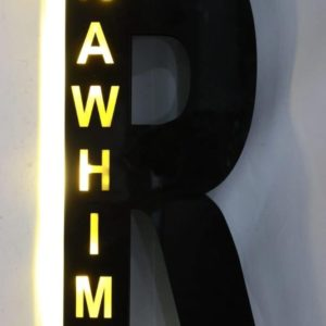 Customized Alphabet Name Wall Hanging Light