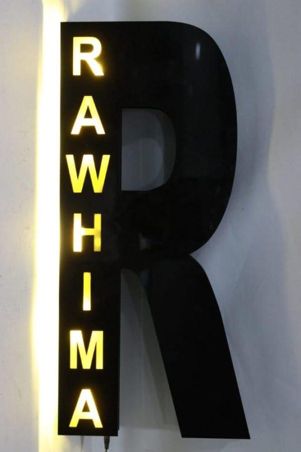 Customized Alphabet Name Wall Hanging Light