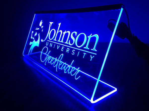 Customized LED Name And Designation Table Frame