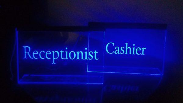 Customized LED Name Or Designation Table Frame