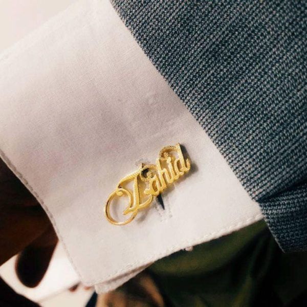 Buy Customized Name Cufflink in Pakistan