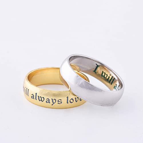 Engrave Couple Rings (Includes 2 Rings in a set)