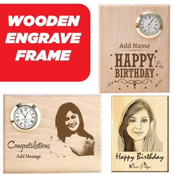 Engrave Wooden Clock Frame