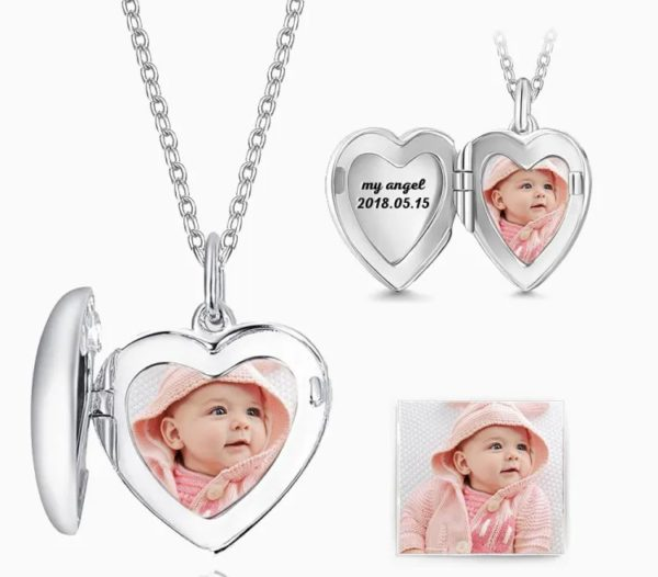 Customized Picture And Name Nacklace