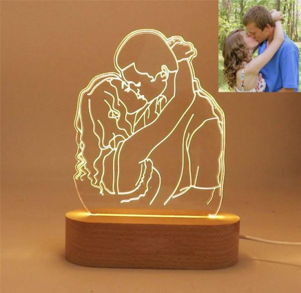 Customized Picture Engraved Lamp