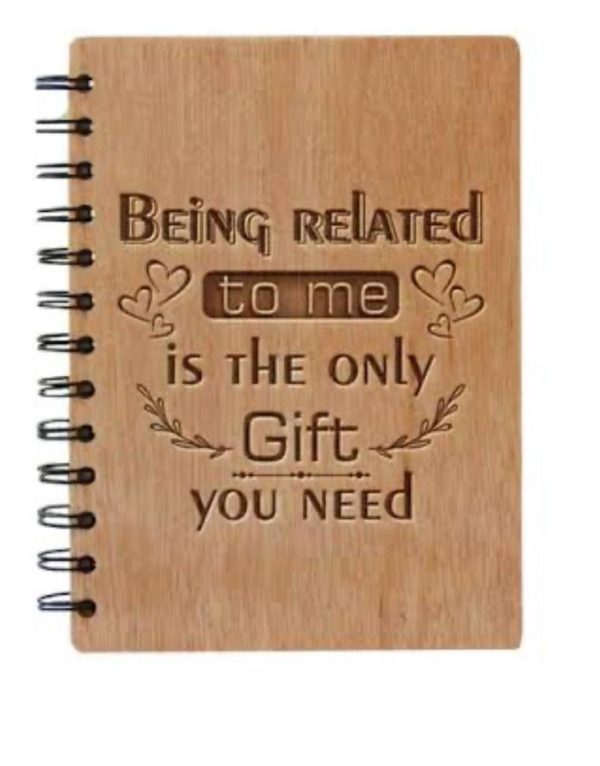 Customized Engraved Wooden Diary