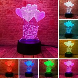 Romantic personalized Happy Birthday Gift Lamp