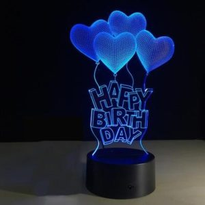 Romantic personalized Happy Birthday Gift Lamp