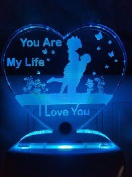 Romantic personalized Heart Design Gift Lamp