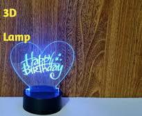 Design Your Own Customized Heart Design 3D Lamp
