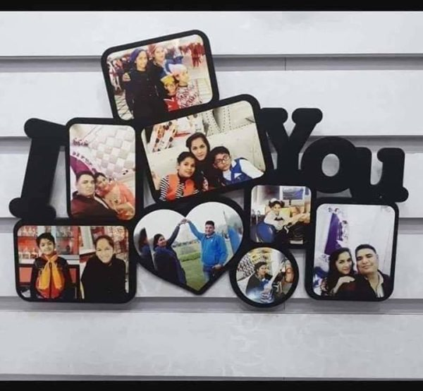 Design Your Own Customized I Love You Design Picture Frame
