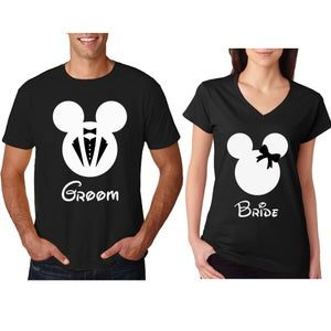 Two In One, Customized Gift Pack Of Round Neck And V Neck T-Shirts For Couples