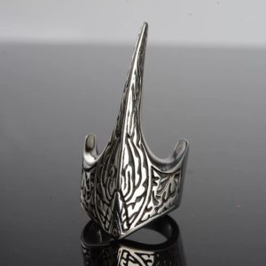 316L Stainless Steel Nose Viking For Men Scandinavian Odin Thor's Hammer Mjolnir Runic Amulet Ring