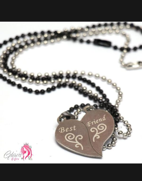 Fashion Jewelry Best Friend Pair of 2 Locket Heart Pendant Necklace for Girls