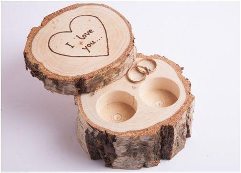 Design Your Own Wooden Customized Ring Holder Box