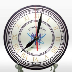 Design Your Own Customized Picture And Name Round Shape Table Clock