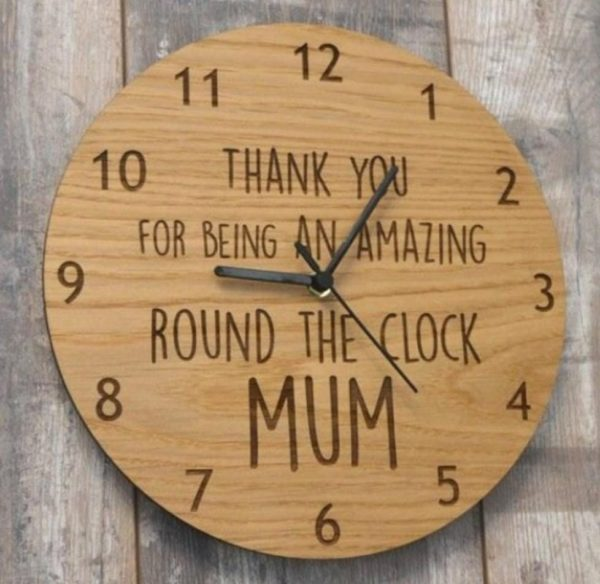 Design Your Own Customized Wooden Wall Clock
