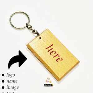 Design Your own Customized Picture Name Or Logo Engraved Wooden Keychain