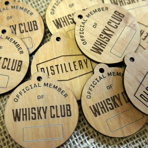 Design Your Own Customized Wooden Name Badges 3mm Alder wood