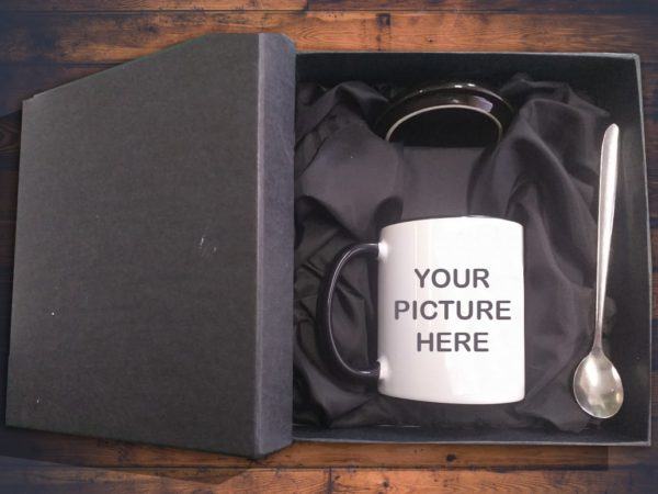 Design Your Own Customized Picture Name Text Or Design Printed Mug Lid And Spoon With Gift Box