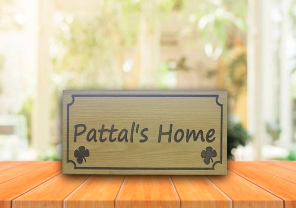 Personalized Outdoor Wooden Name Plate