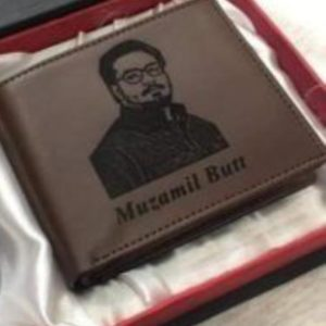 Customized Picture And Name Engraved Wallet