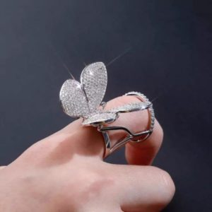 Design Your Own Butterfly Ring with Moving Wings and Zircon Stones