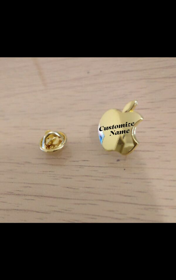Design Your Own Name Engraved Apple Cufflink