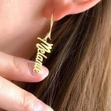 Personalized Name Or Alphabet Ear Rings