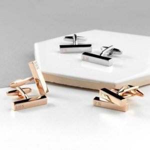Design Your Own Customise Name Bar Cufflinks