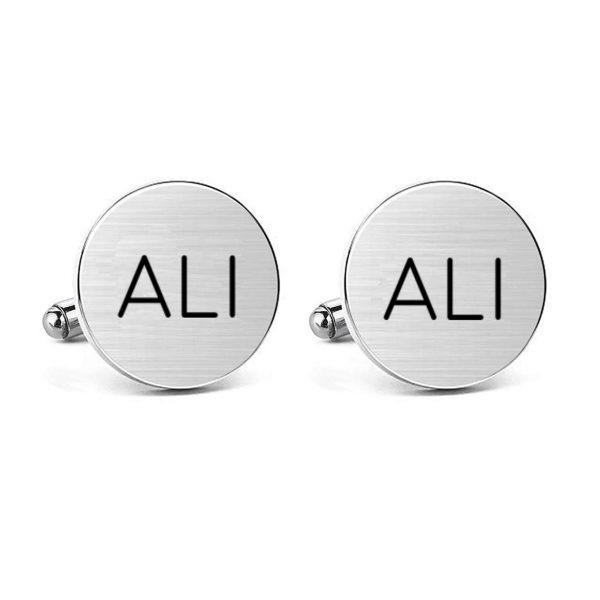 Deign Your Own Engraved Name Cufflink