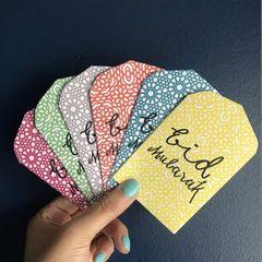 Design Your Own Multiple colors Eidi money paper pouches (6 Pcs)