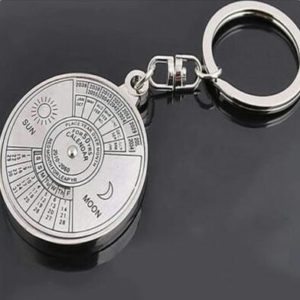 Design your own 50 years perpetual calendar key chain