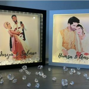 Design Your Own Custom Picture illustrated LED Photo Frame With Crystal's